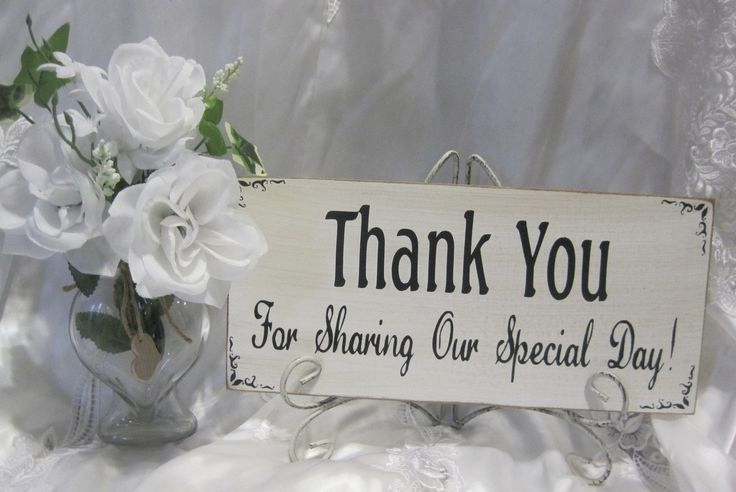 Wedding Gift Table Thank You Poem : ... Wedding Decoration Thank You Special Day Sign Reception Gift Table