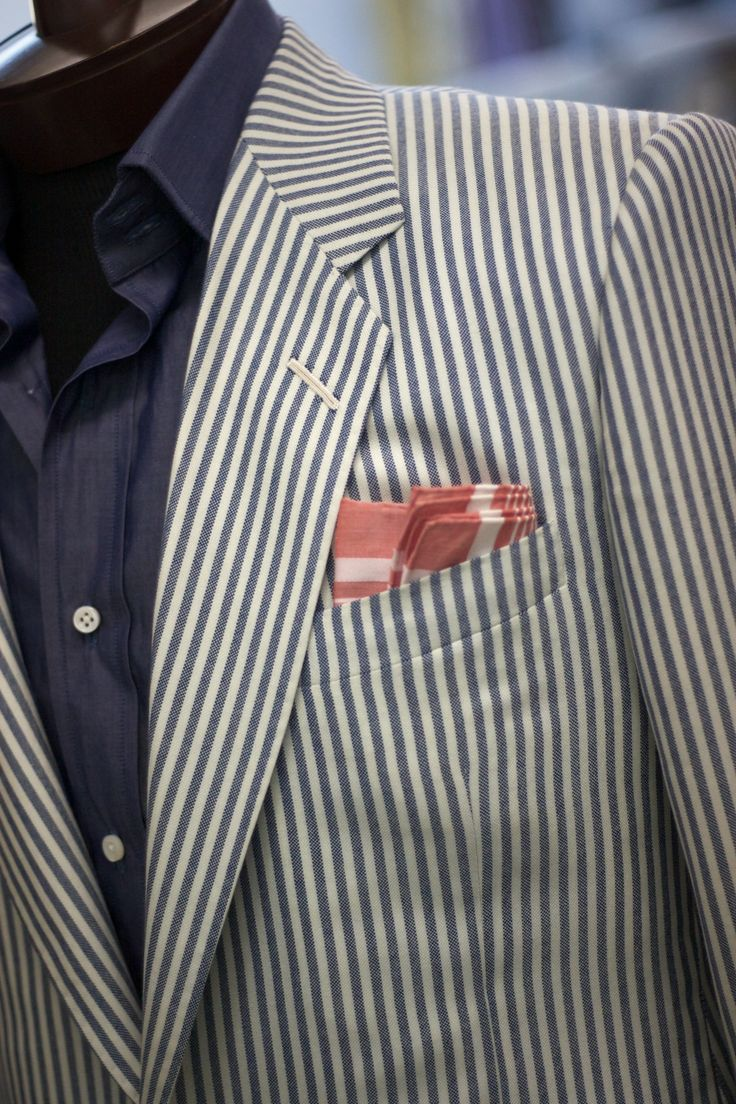 One of our favorites of the week is this sportcoat in 7 oz cashmere by Loro Piana. Paired here with one of our lightweight cotton shirts, an...