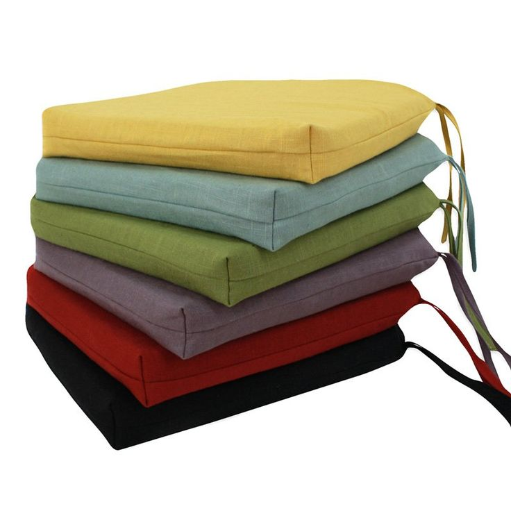 Circa Reversible 17 x 17 Foam Seat Cushion with Ties