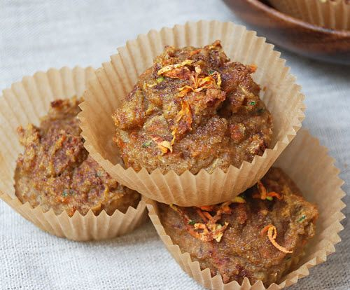 ... zucchini spiced muffins- made with coconut flour and coconut oil