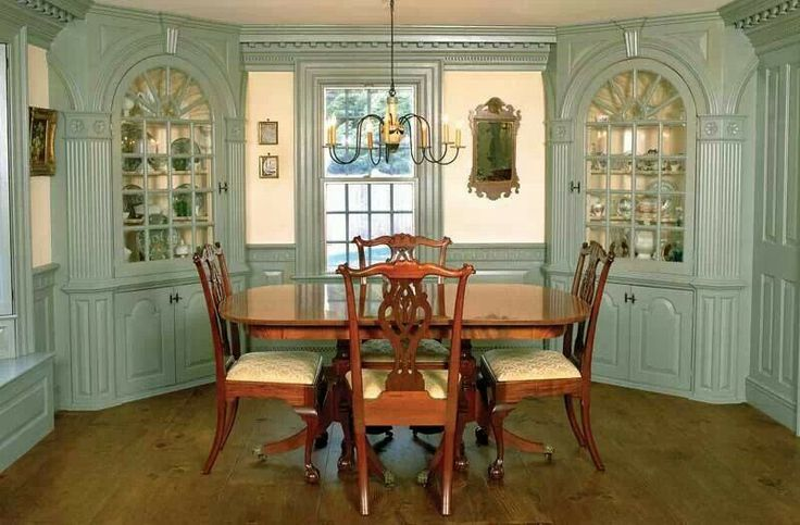 formal colonial diningroom | Colonial Interiors | Pinterest