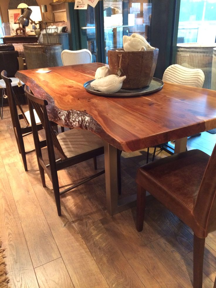natural edge slab dining room table for the home pinterest