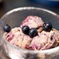 Red Bean Pudding with Blueberry Sauce