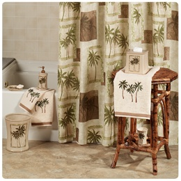 Tropical Bathroom Bath Accessories Tropical Home Decor Pinterest