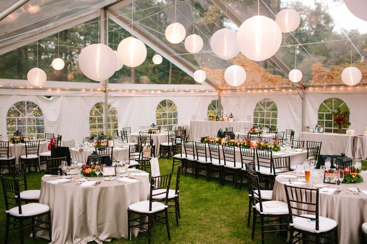Tent Wedding In Backyard : tent to see the stars with Source Backyard Wedding from Shane