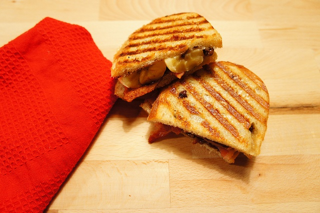 Bacon Banana Nutella Panini Recipe by Little Miss Whisk