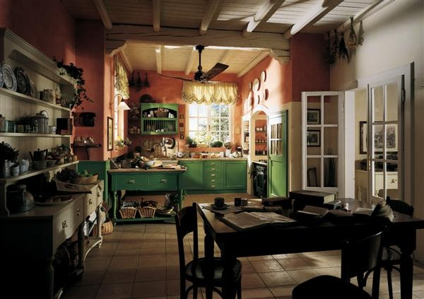 Colorful old english country kitchen kitchens pinterest for Classic english kitchen designs