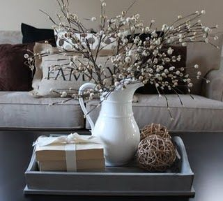 Love the willows!! I'm obsessed w branches! Want something like this for my living room coffee table.