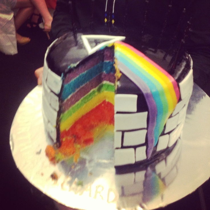 Rainbow 60th birthday cake! Pink floyd. 60 Pinterest