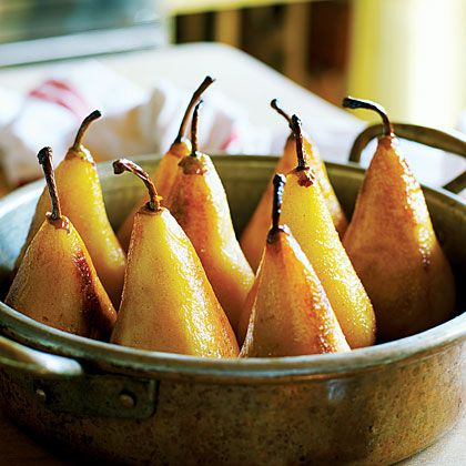 Caramelized Pears with Toasted Hazelnuts and Chocolate Sorbet | Recipe