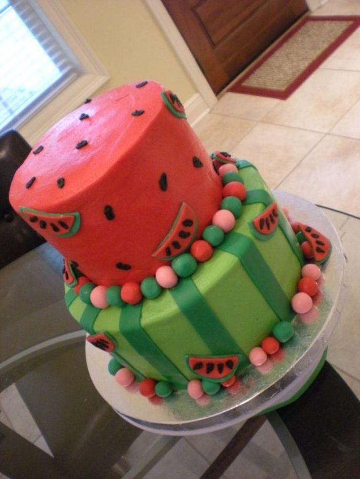 Watermelon cake | Birthday Party Ideas | Pinterest