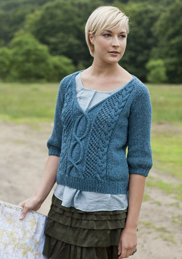 Free Crochet Pattern V Neck Sweater ~ Dancox for .