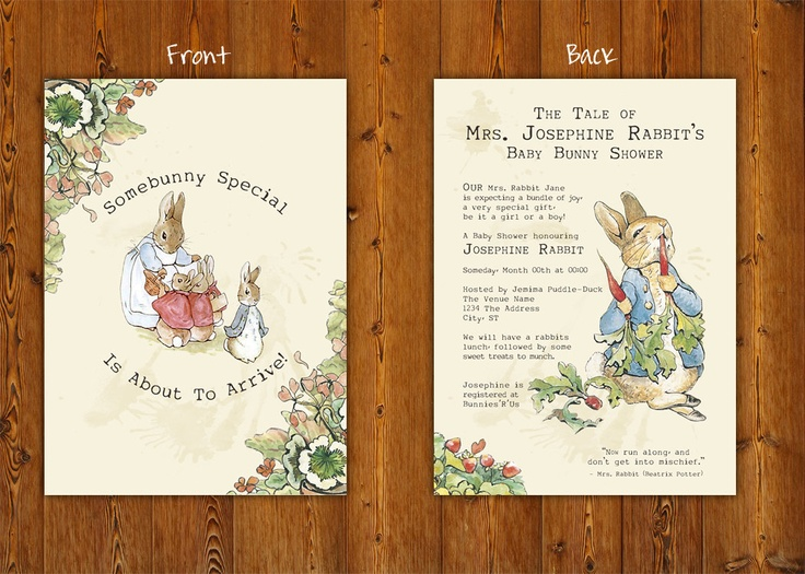 peter rabbit printable baby shower invitations digital file 45