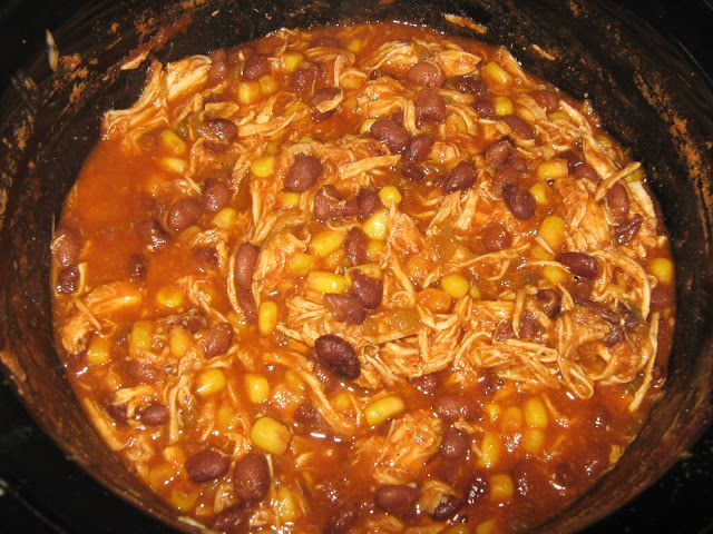 Crock Pot Chicken Taco Chili | From the blog- Dinners | Pinterest