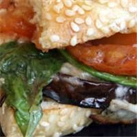 ABSOLUTELY DELICIOUS!!! Grilled eggplant Parmesan sandwich: Note ...
