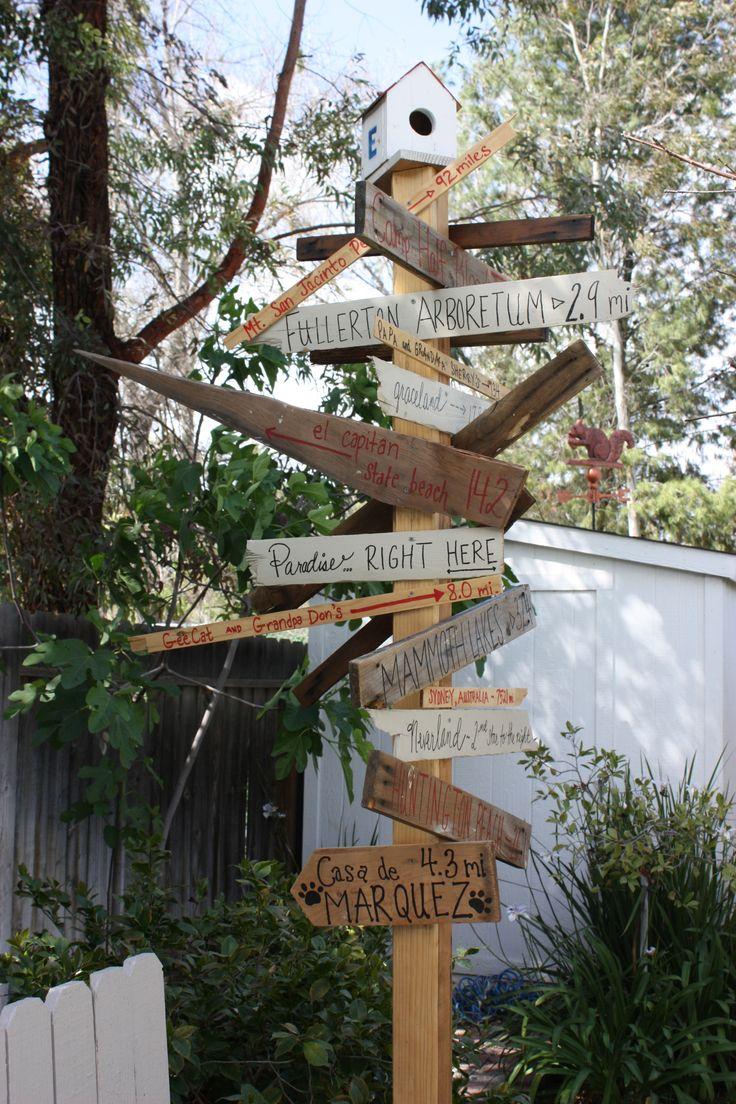 signpost backyard ideas pinterest