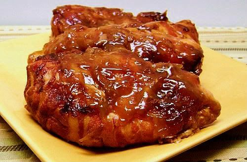 Rec/Rev/Pics...Slow Cooker Bacon-Wrapped Apple Barbecue Chicken ...