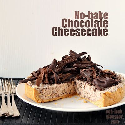 No-bake Chocolate Cheesecake -- NOTE: Graham crackers are about as ...