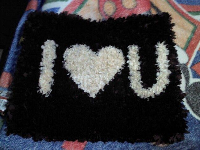 Regalo para mi novio por nuestro aniversario :) hecho por mi (tapete