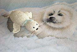 Fuzzy Seal amigurumi CROCHET PATTERN by PlanetJune on Etsy