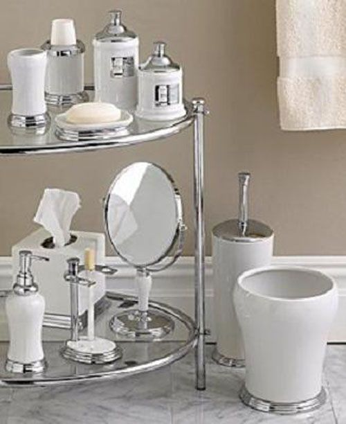 Original Contemporary 4 Piece Bathroom Hardware Bath Accessories Set Chrome