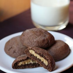 "Chocolate Peanut Butter ""Magic in the Middle"" Cookies"
