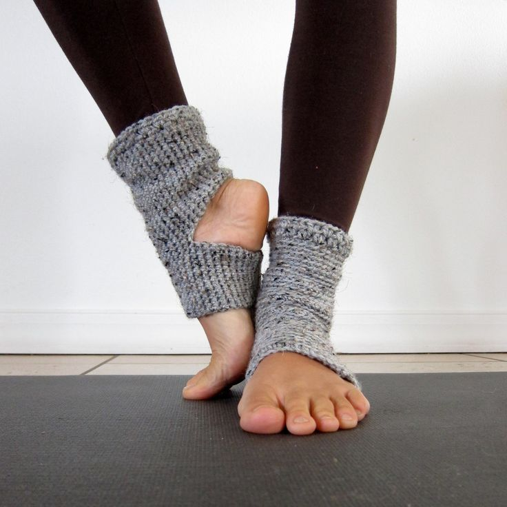 Crochet Yoga Socks : Cozy Grey Crochet Yoga Socks. $21.00, via Etsy.