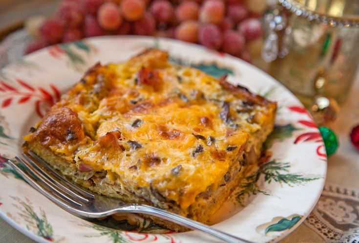 Mushroom, Ham and Cheese Strata: Best Brunch Casserole. EVER. | The ...