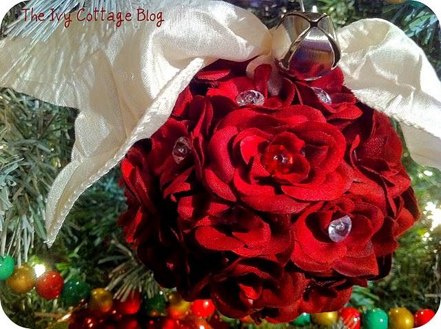 Flower ball ornament tutorial