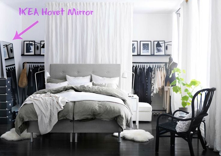 ikea hovet mirror via love ya bean it home accessories pinterest. Black Bedroom Furniture Sets. Home Design Ideas