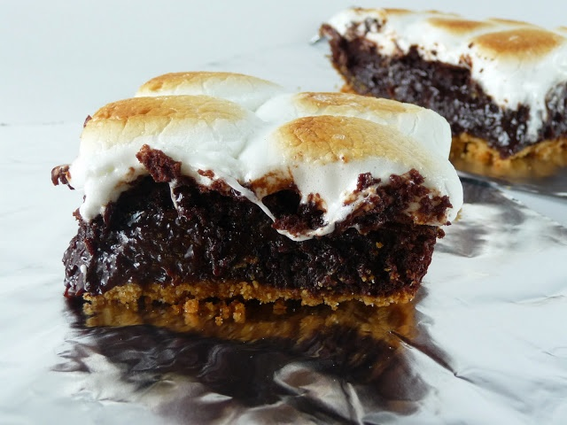 mores Brownie Bars | Dessert ideas | Pinterest