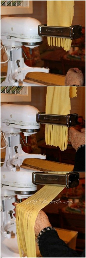 Tagliatelle in Bolognese. Pasta making instructions and tips from an ...