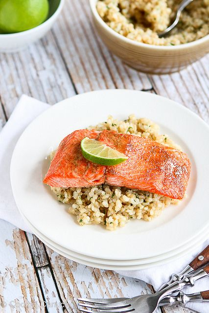 Spice Rubbed Lime Salmon Recipe | cookincanuck.com #cleaneating # ...