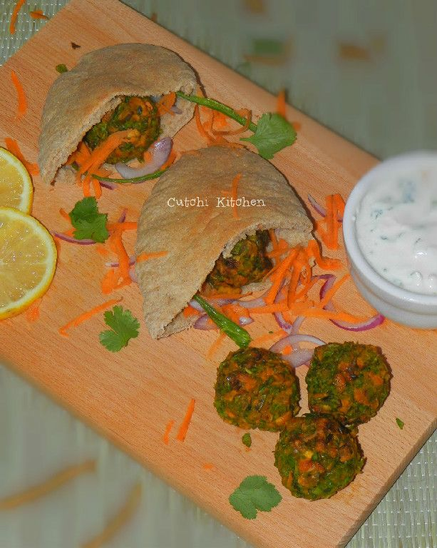 Falafels with a Twist served with a Garlic Herb Dip