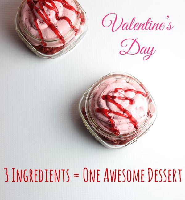 Super easy Valentine's Day Dessert with only 3 ingredients!