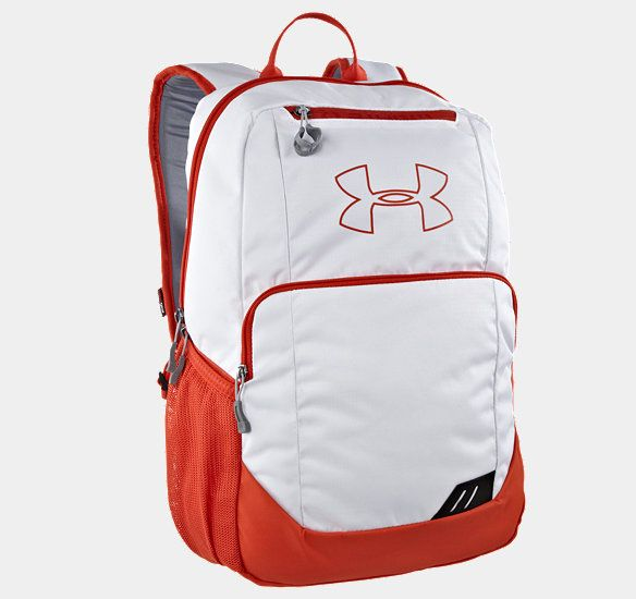 "If your girl is looking for a sporty backpack, we really love Under Armour's styles and colors.  This is our favorite!  It comes in 8 other colors, including bright green, aqua, and an orange/lime combo.  Then they have a number of other styles (different sizes and pockets), all with great color choices, ranging from bold and vibrant to basic (like gray, navy, and red).  Size: 18"" x 11"" x 8"""