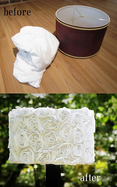 DIY ruffle flower lamp shade
