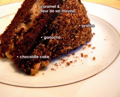 cake with fleur de sel caramel filling recipe key chocolate cake with ...