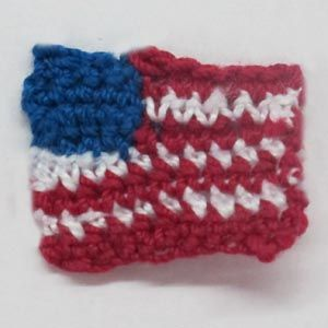 Small American Flag Crochet Pattern : Crochet American Flag Crochet Pinterest