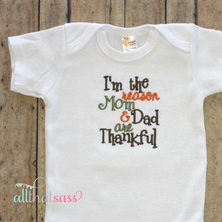 Baby boys or girls thanksgiving clothes bodysuit creeper outfit
