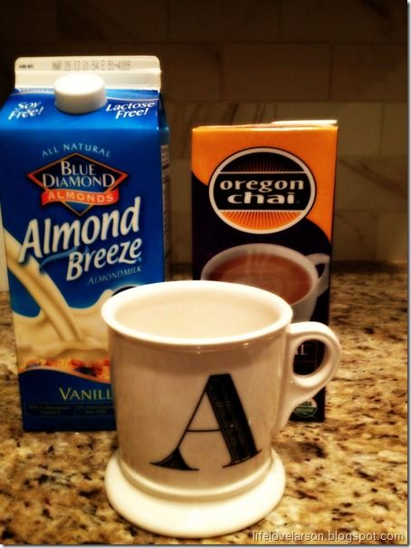 Homemade chai tea latte add some vanilla and caramel in there and