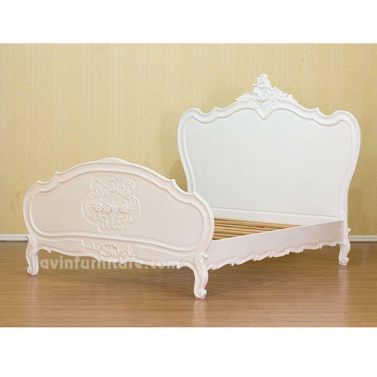 White Wood Bed Frame 736 x 736