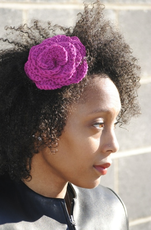 AcARRE Crochet flower hair pin