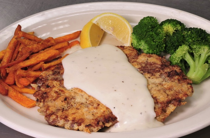 Monument Cafe's Chicken Fried Steak with Homemade Cream Gravy looks ...