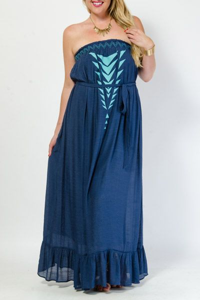 plus length dresses that disguise belly