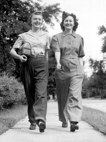 Off to work they go! #vintage #1940s #WW2 #women