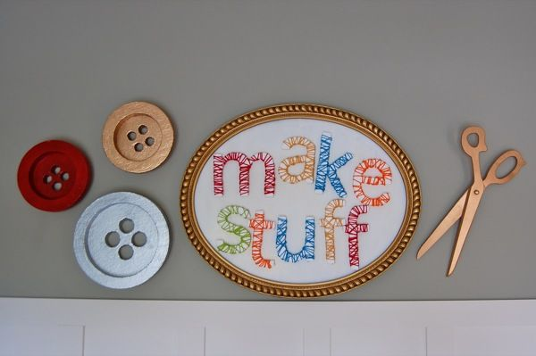 Wall Decor Craft Room : Craft room decor wall diy