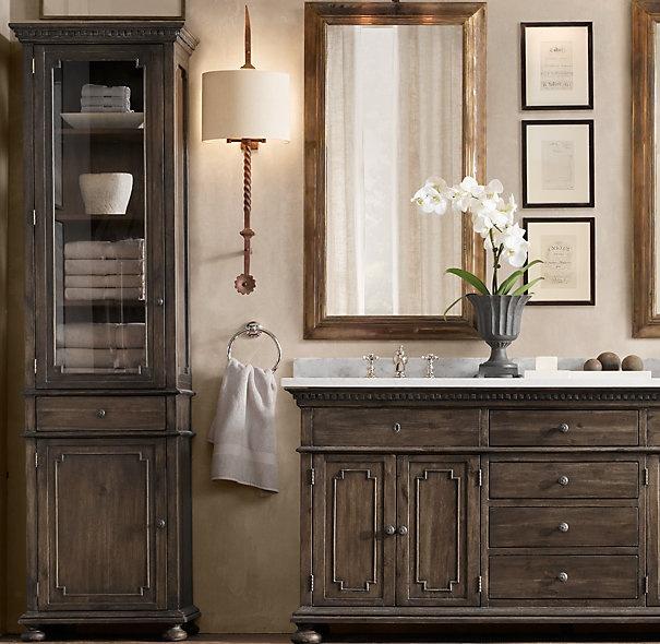 Pin by karen munro kurtz on bathrooms pinterest - Restoration hardware cabinets ...