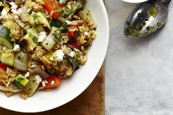 Brown Rice and Grilled Vegetable Salad | YUM | Pinterest