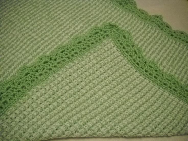 Tunisian Crochet Baby Blanket Pattern : Tunisian Crochet Baby Blanket Crochet Pinterest